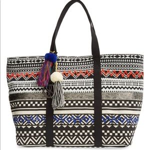 Sam Edelman tribal embellished tote bag